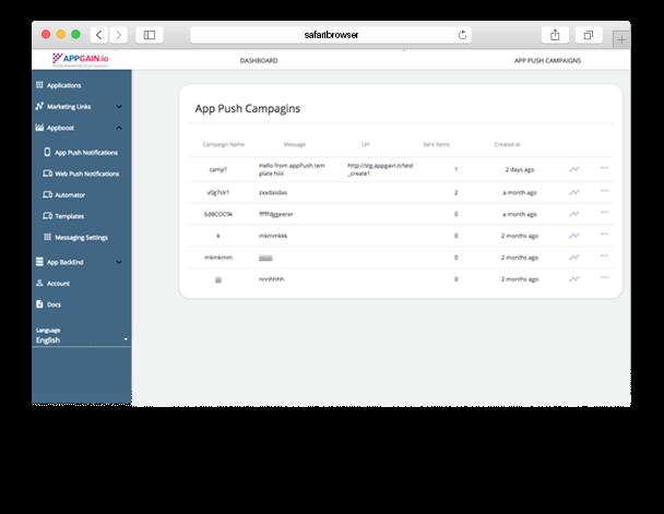safari-browser-App push Campaigns