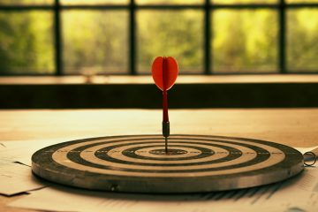 Setting goals for business success and commercial concepts